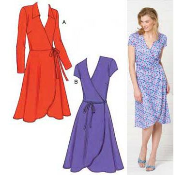 Kwik Sew wrap dress | Sew What | Pinterest | Kwik sew, Sew dress and ...