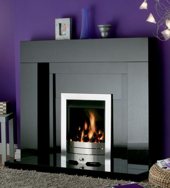 Black Fireplaces Part - 24: Fireplaces   Stonehenge Black Granite Fireplace From Fireside   Direct  Fireplaces £785
