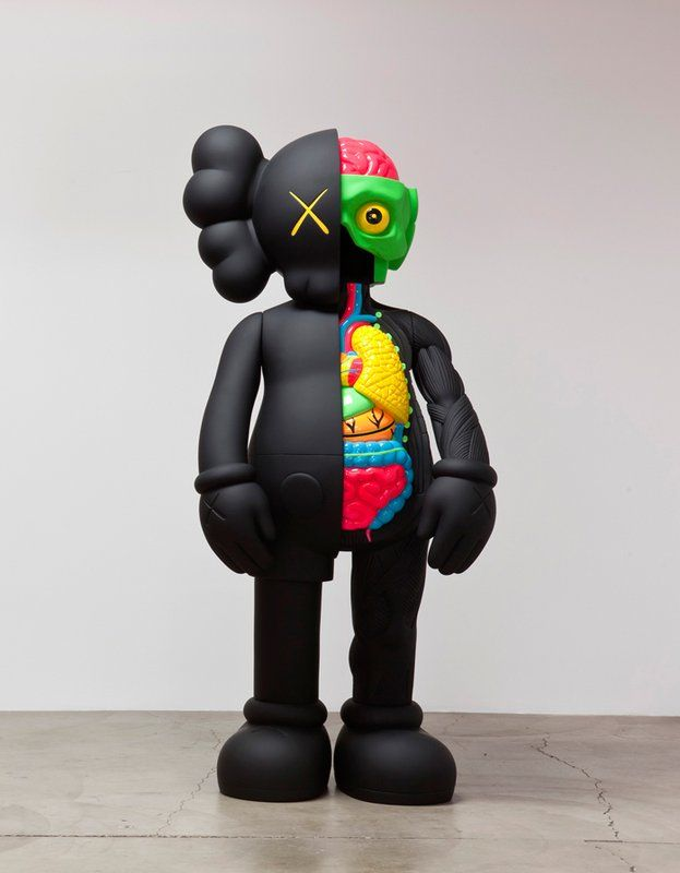 KAWS , Four Foot Dissected Companion (Black)