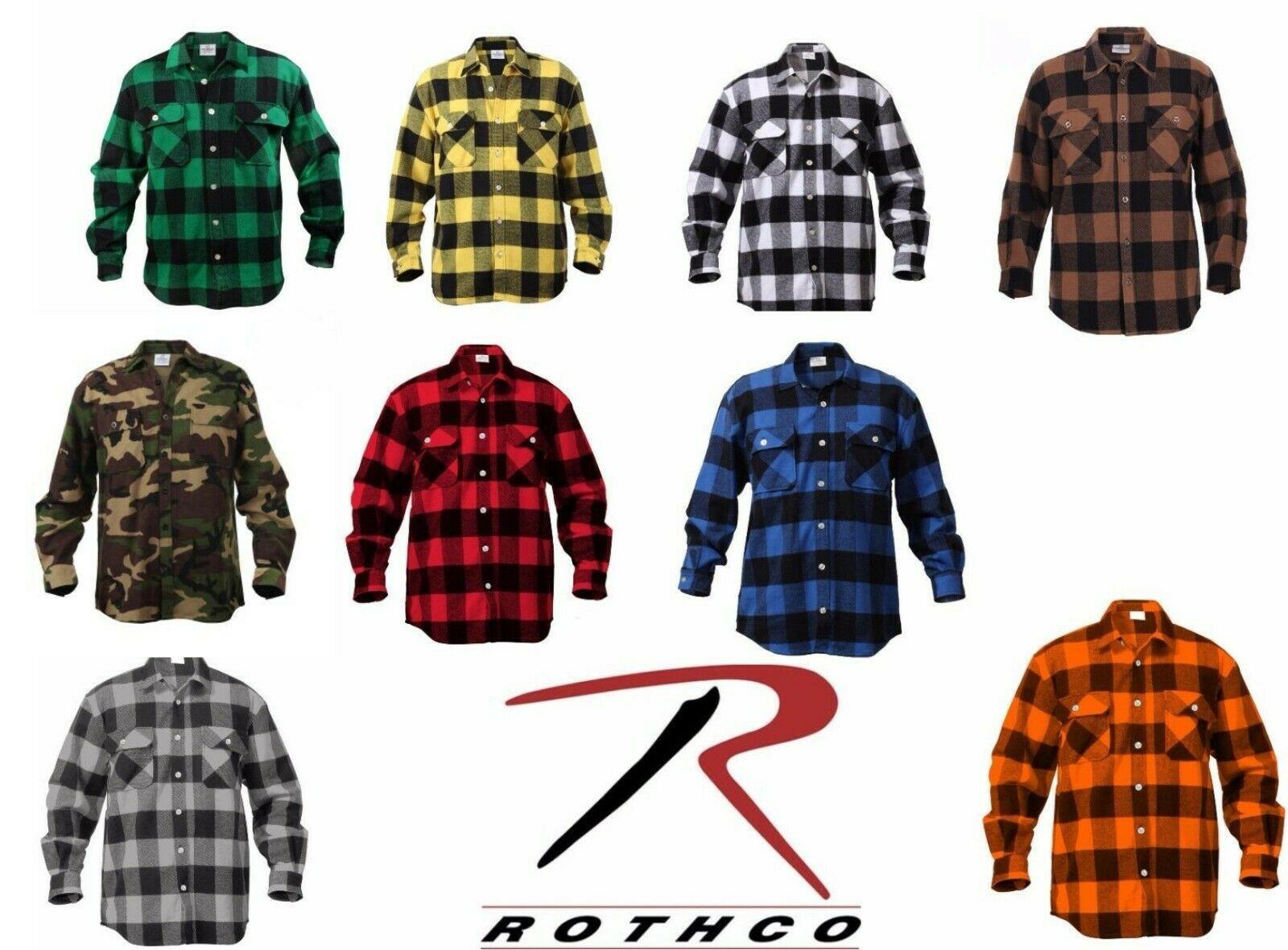 Blue Plaid Heavyweight Brawny Buffalo Plaid Flannel Shirt Rothco 4739