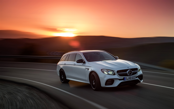 Download Wallpapers Mercedes Amg E63 Estate 4k 2017 Cars 4matic