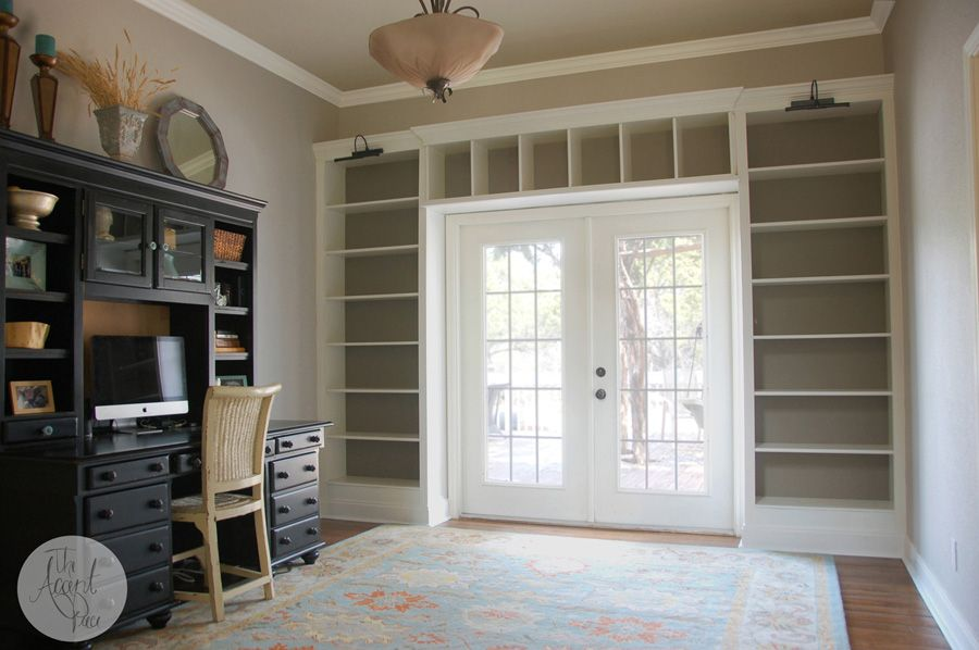Book Shelves Around Door Used 3 Billy Bookcases To Build