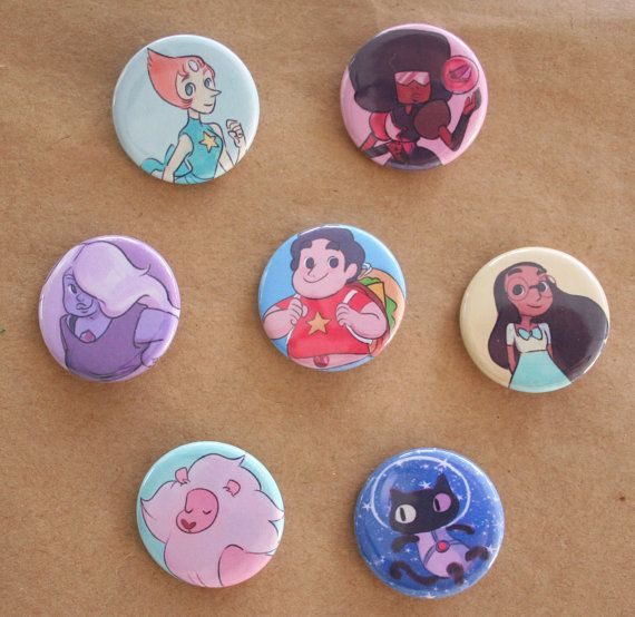 Steven Universe pins  set of 7 by lisaveeee on Etsy