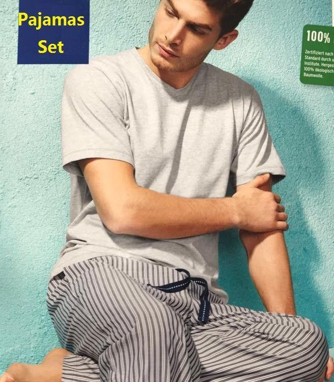 fbb344de34 Plus Size cotton short-sleeve pyjamas men Summer Simple Sleepwear pijamas  pajamas sets for male sexy nightwear men