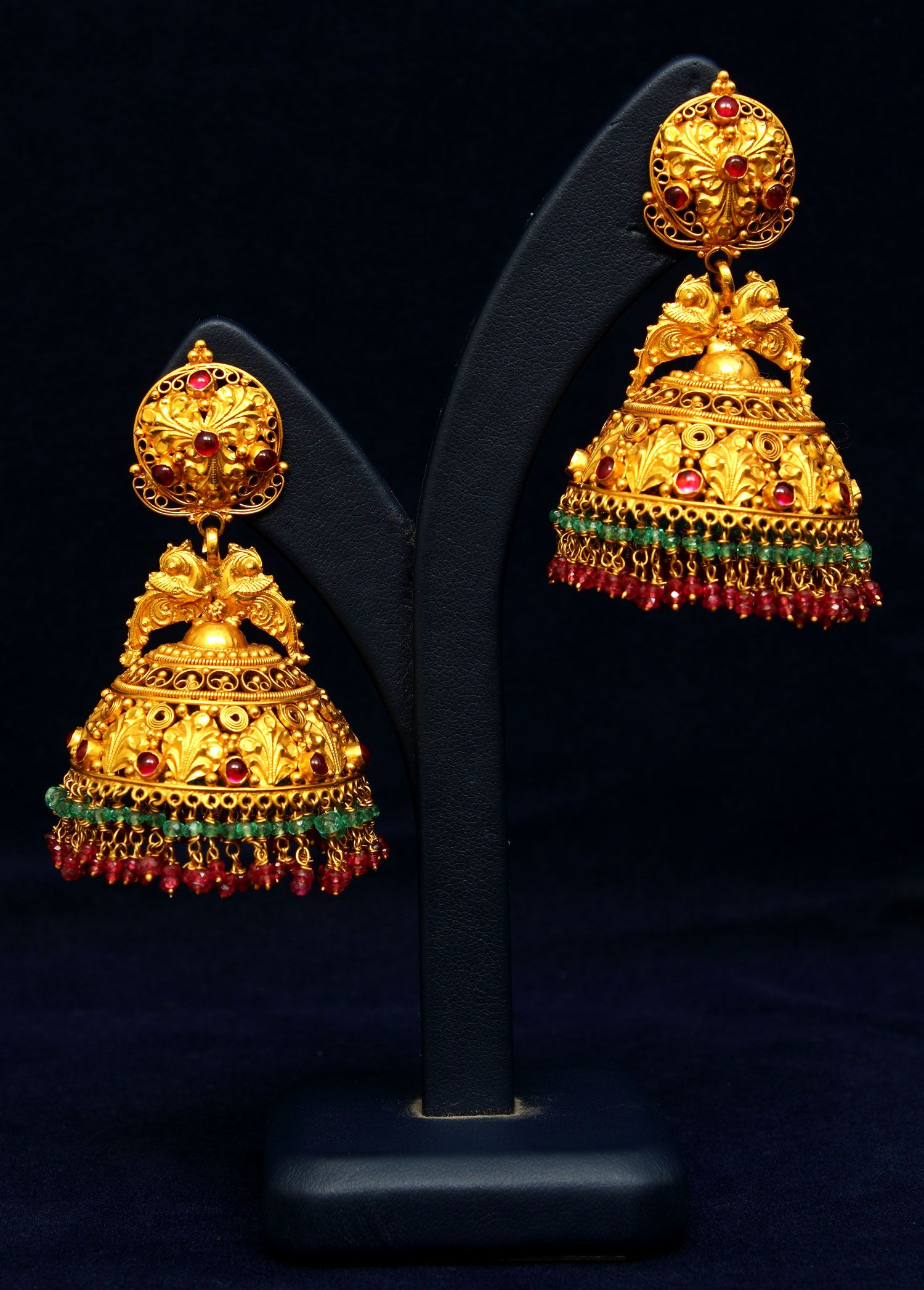 And contemporary gold jhumkas collection by khazana jewellery - Latest Gold And Platinum Jewellery Designs And Collections For Kids Womens And Girls Buy