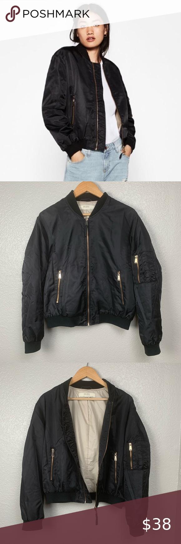 Hp Zara Basic Outerwear Black Bomber Jacket Black Bomber Jacket Fashion Zara Basic [ 1740 x 580 Pixel ]
