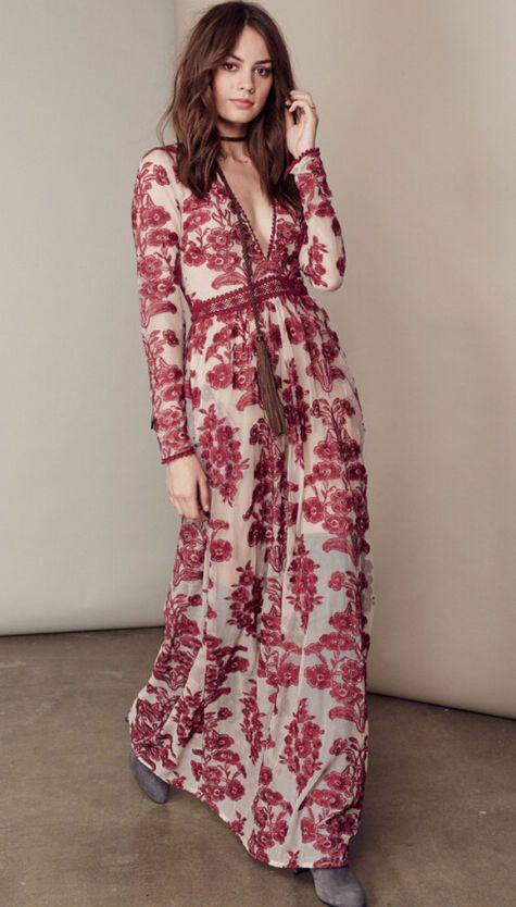 6447bf1e91e EN STOCK Robe longue maxi lolita bohème chic imprimé fleuri baroque fashion  R