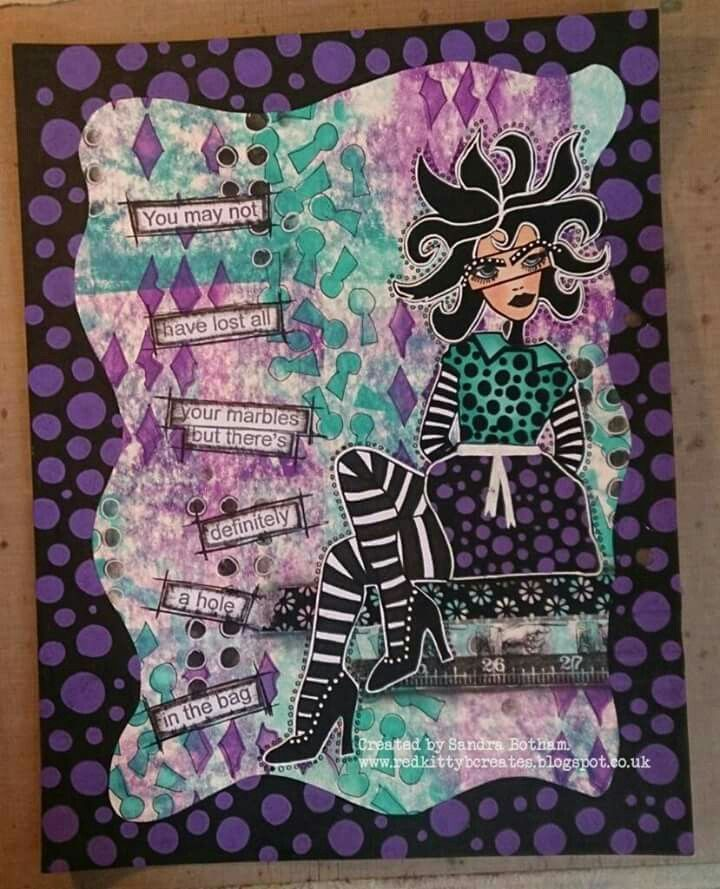 Sandra Botham for The Dylusions Facebook Challenge.