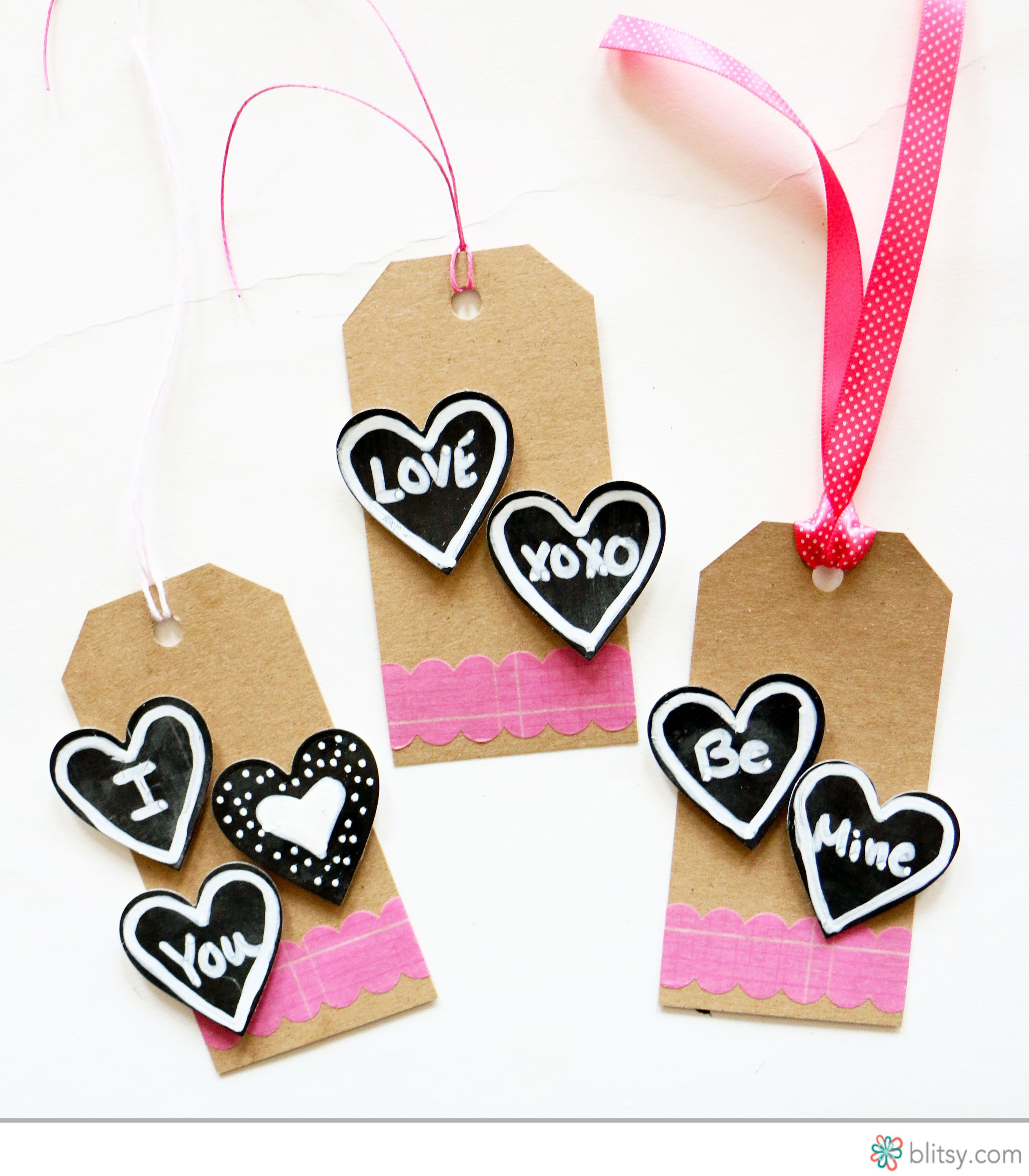 Get ahead of Valentine's Day this year! Show some love with these Chalkboard Heart Valentine's Day Tags! With some Martha Stewart Chalkboard Paint, you can make your own chalkboard heart tags! blitsy.com