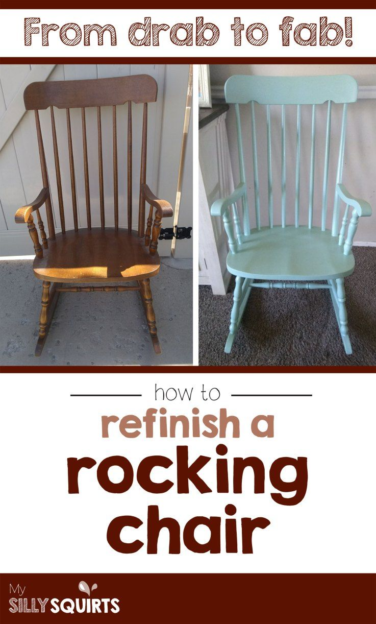 Drab To Fab How To Refinish A Rocking Chair Vintage Rocking Chair Farmhouse Rocking Chairs Painted Rocking Chairs