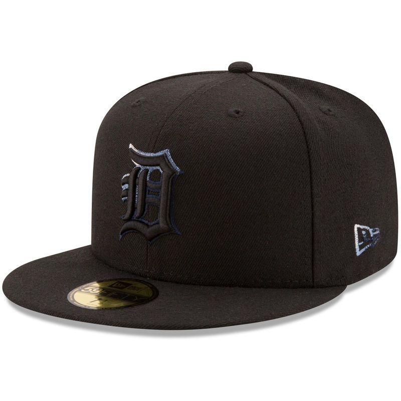 Detroit tigers new era color dim 59fifty fitted hat