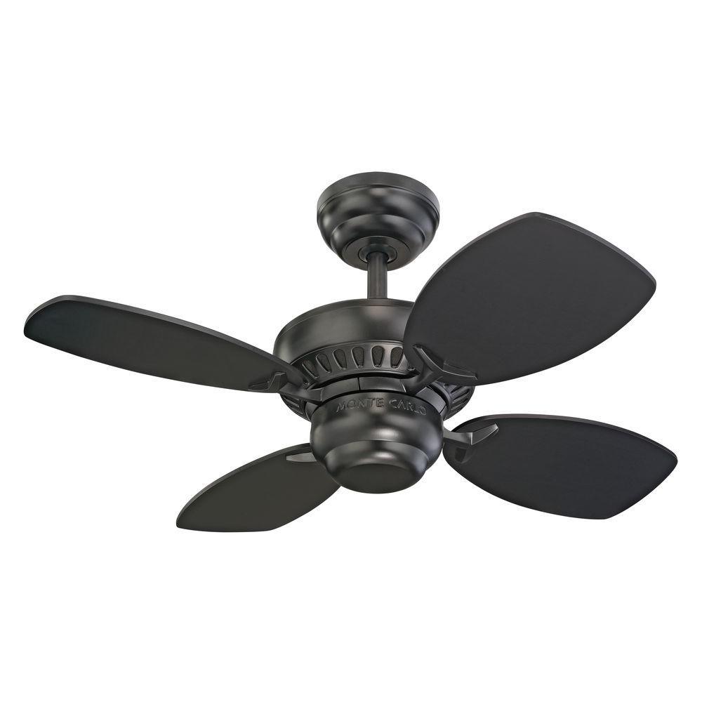 Monte Carlo Colony Ii 28 In Black Ceiling Fan 4co28bk Black