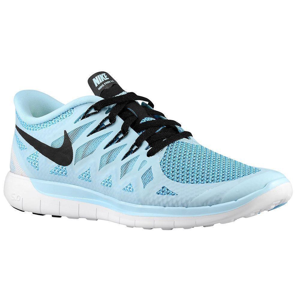 3490ead55e3a Nike Free 5.0 Womens Running Shoes Ice Cube Blue Black 642199 402  Nike   RunningCrossTraining