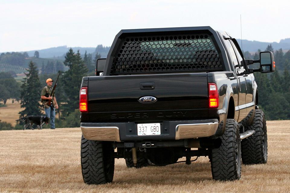 New Custom Designed Ford Super Duty Headache Rack By Santiam Truck Jacked Up Trucks Trucks Jacked Up Truck