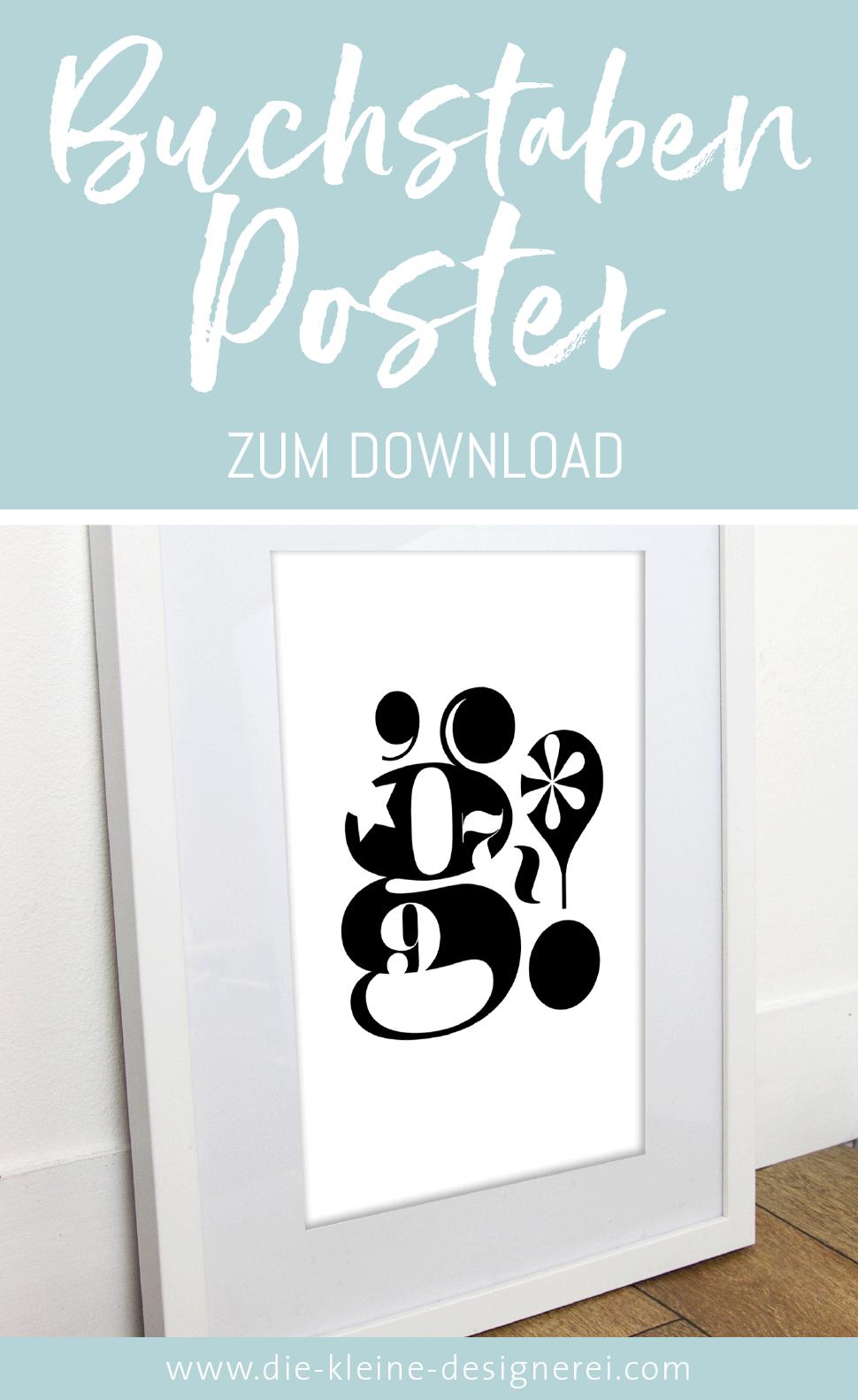 Buchstabenposter zum Download Poster kinderzimmer, Bad