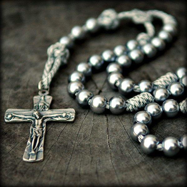 Arctic Paracord Rosary Cordbands Paracord Rosary Rosary