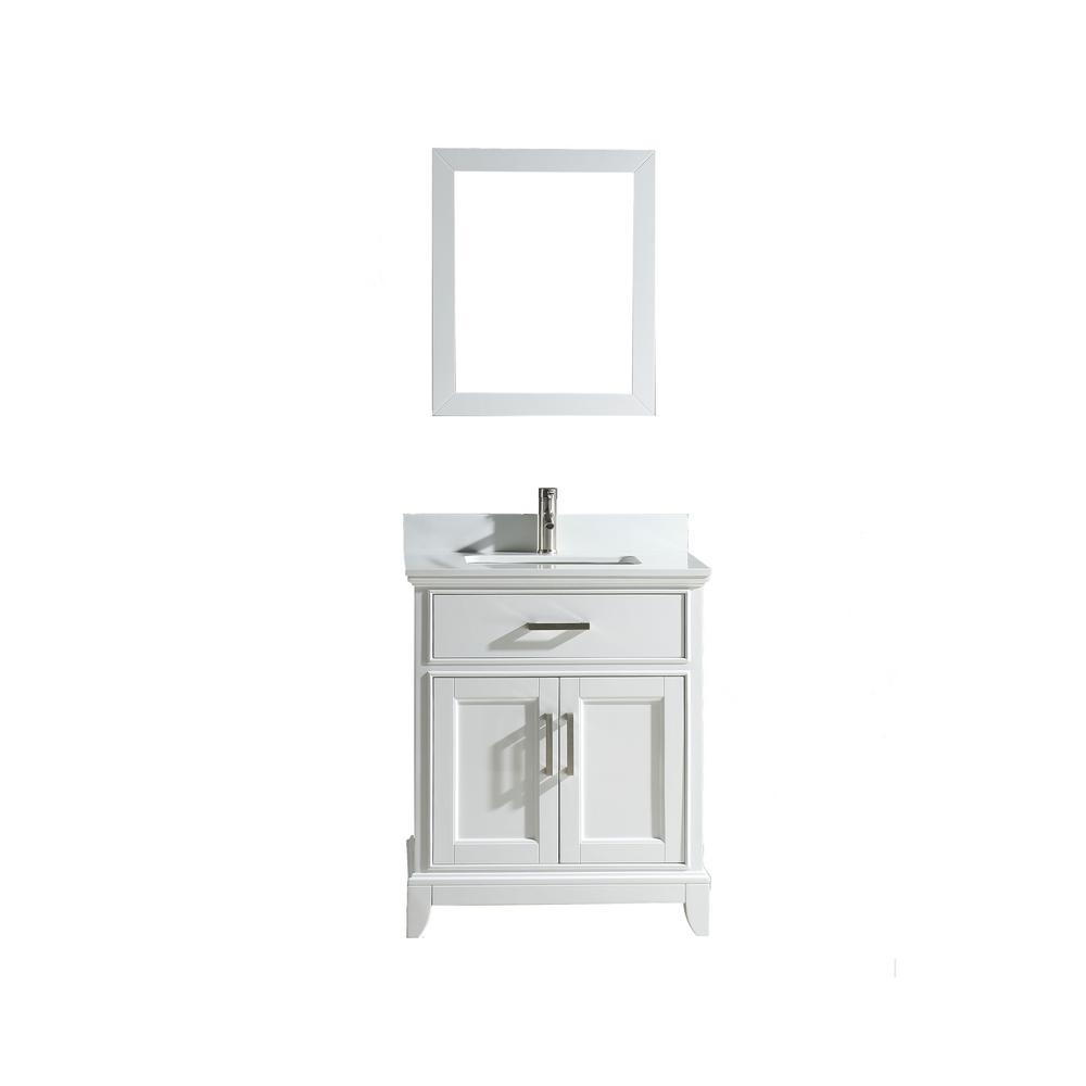 Vanity Art Genoa 30 In W X 22 In D X 36 In H Bath Vanity In White With Vanity Top In White With White Basin And Mirror Va1030w The Home Depot