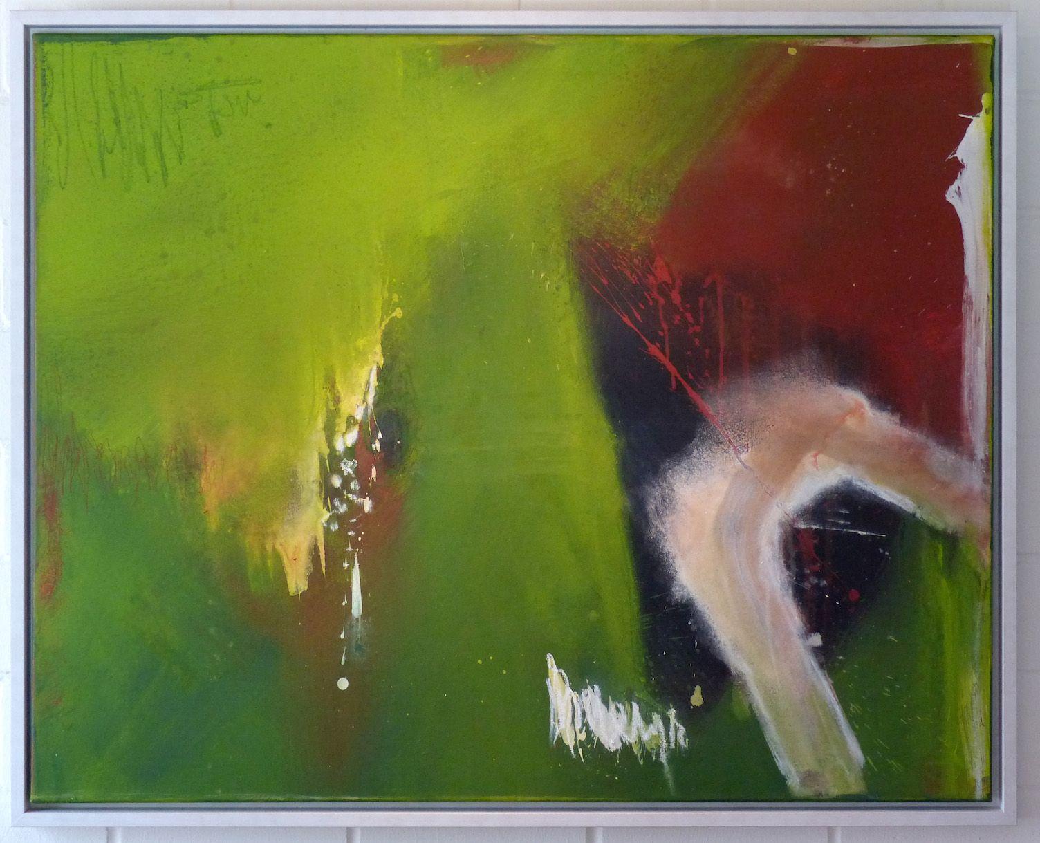 O.T.  Acryl auf Leinwand 80 x 100 cm  gerahmt in weißem Schattenfugenrahmen Preis auf Anfrage