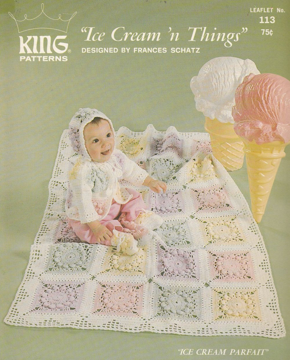 Crochet Baby Afghan Patterns - 2 Styles - Matching Layette | Baby ...
