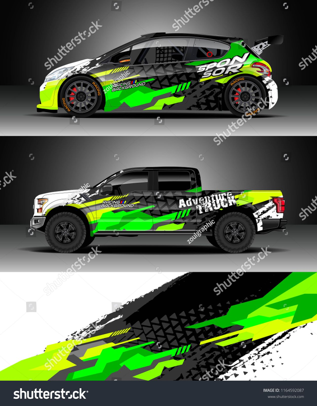 Car decal wrap truck and cargo van design vector graphic abstract stripe racing background kit designs for wrap vehicle race car rally adventure and