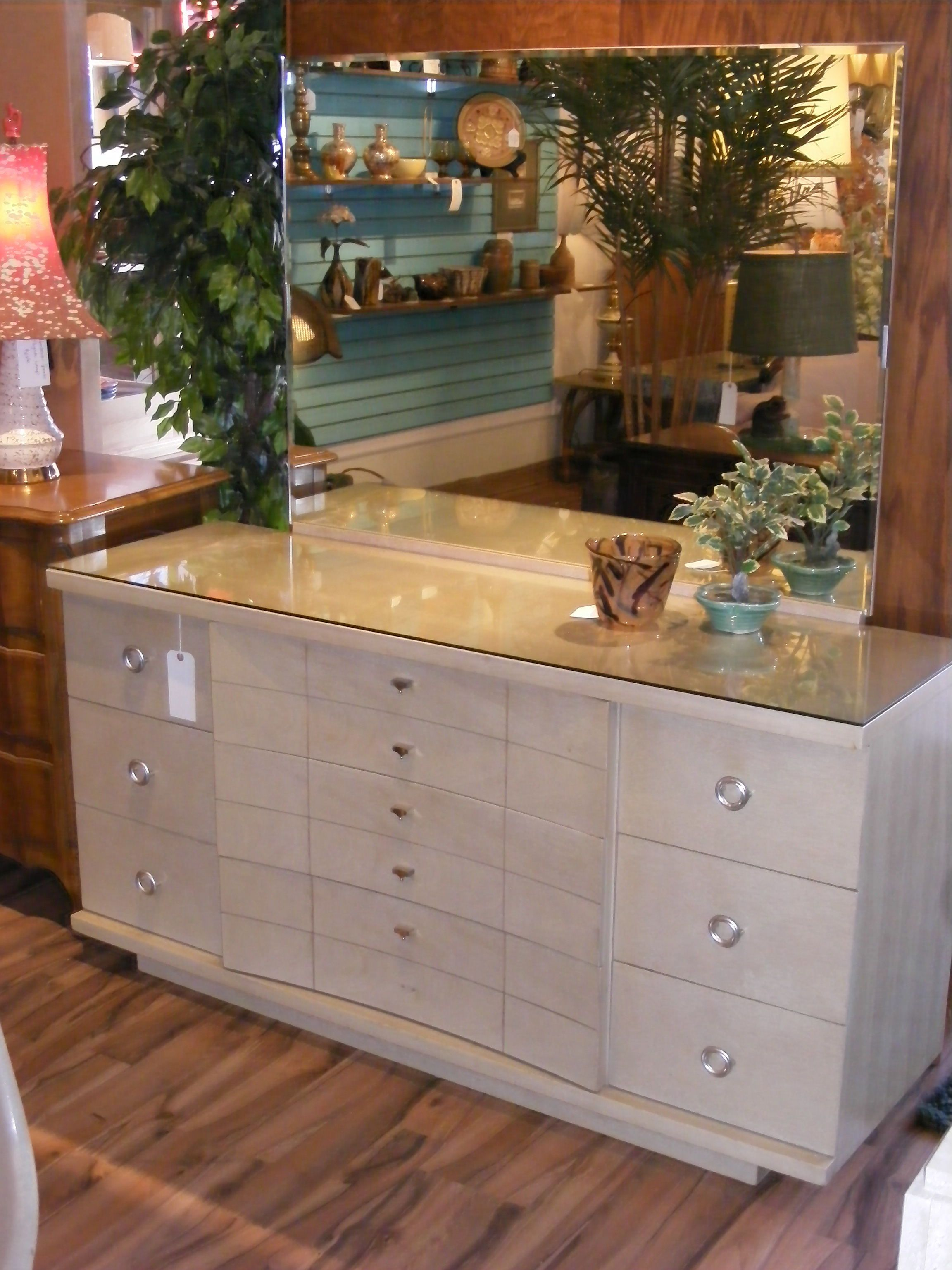 Kent Coffey Blond Beauty Dresser with Mirror 1954! — at