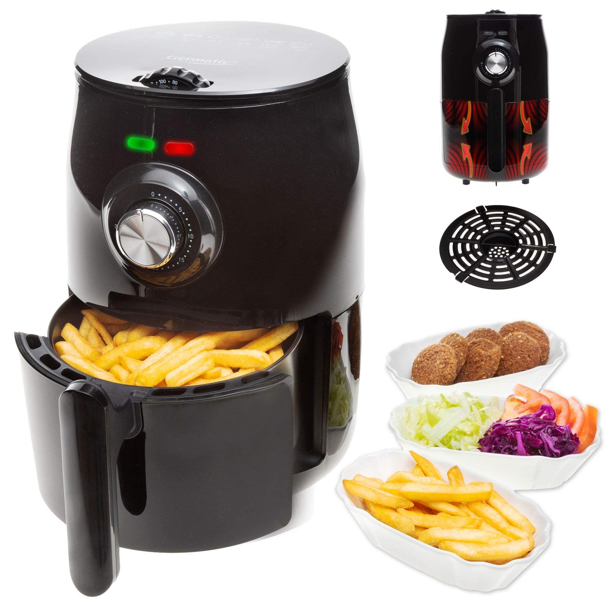 Germatic Heißluftfritteuse Frittieren ohne Öl 1000 Watt ...