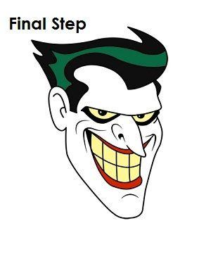 Draw The Joker Final Step Desenhos Do Coringa Desenhos