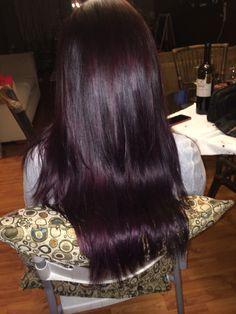 Purple red violet brown hair! | Violet hair colors, Plum ...