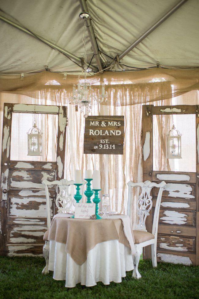 Old World Elegance Meets Garden Romance | California ...  |Outdoor Wedding Reception Head Table