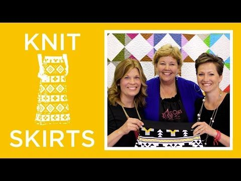 Knit Skirts with Simple Simon: Easy Sewing Tutorial with Jenny Doan of Missouri Star Quilt Co - YouTube