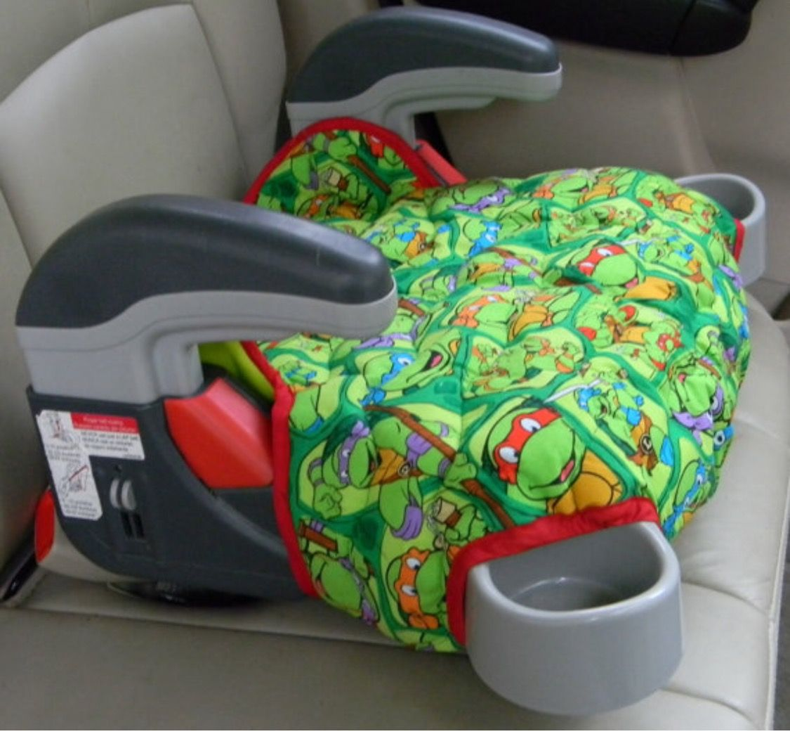 This Graco Turbo Booster Seat Cover Is A Favorite With Kids The Ninja Turtle Fabric Bright And Cheery Reinforced Interfacing Padded Batting