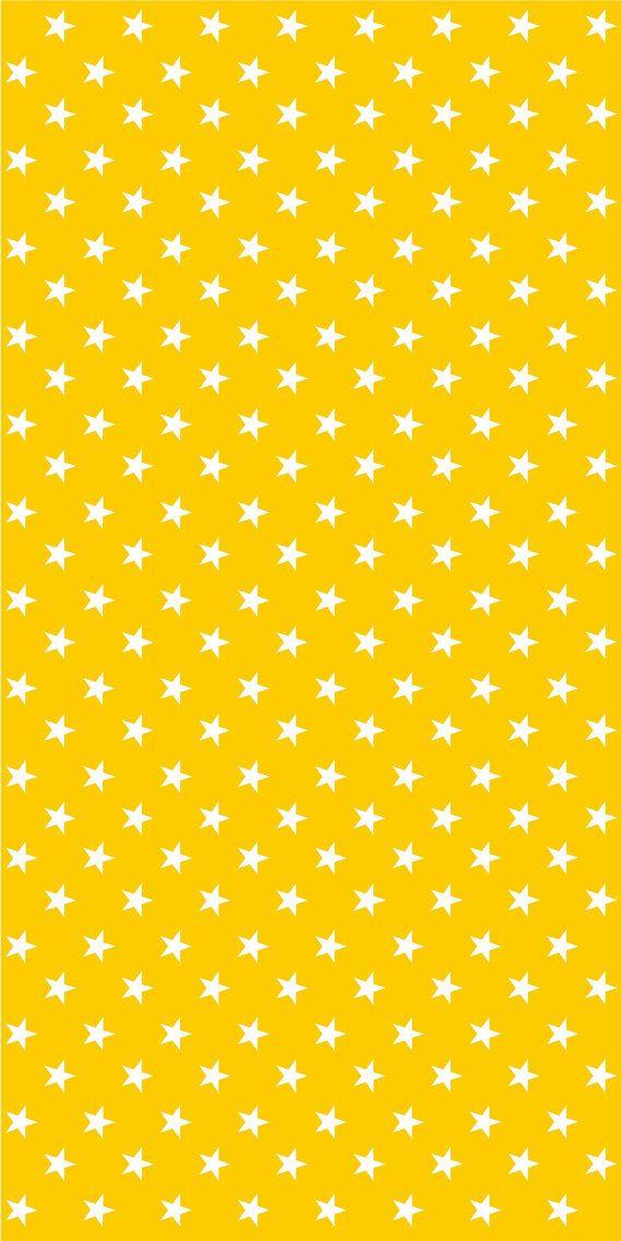Vinyl wallpaper. Selfadhesive yellow with white stars