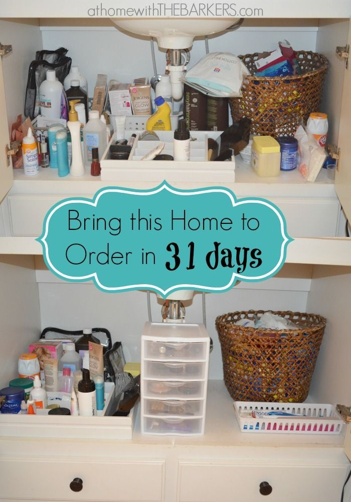 31 Days Under the Bathroom Sink | Sinks and Organizations Organize Under Bathroom Sink on bathroom vanity cabinets with sink, organize and clean bathroom, organize my bathroom, organize under bed, rolling organizer for pedestal sink, kohler rectangular undermount bathroom sink, 50 bathroom vanity double sink, open shelf bathroom vanity with sink, organize under your sink, organize under cabinet,