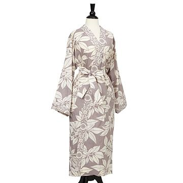 Look what I found at UncommonGoods: Grey Leaves Kimono Robe for $78 #uncommongoods