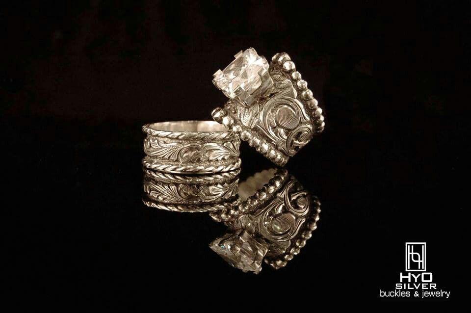 Hyo Silver Matching Set Western Wedding Rings Wedding Ring