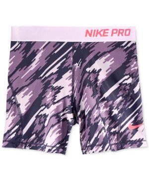 72bc55244d Nike Pro Dri-fit HyperCool Training Shorts, Big Girls (7-16) - Purple