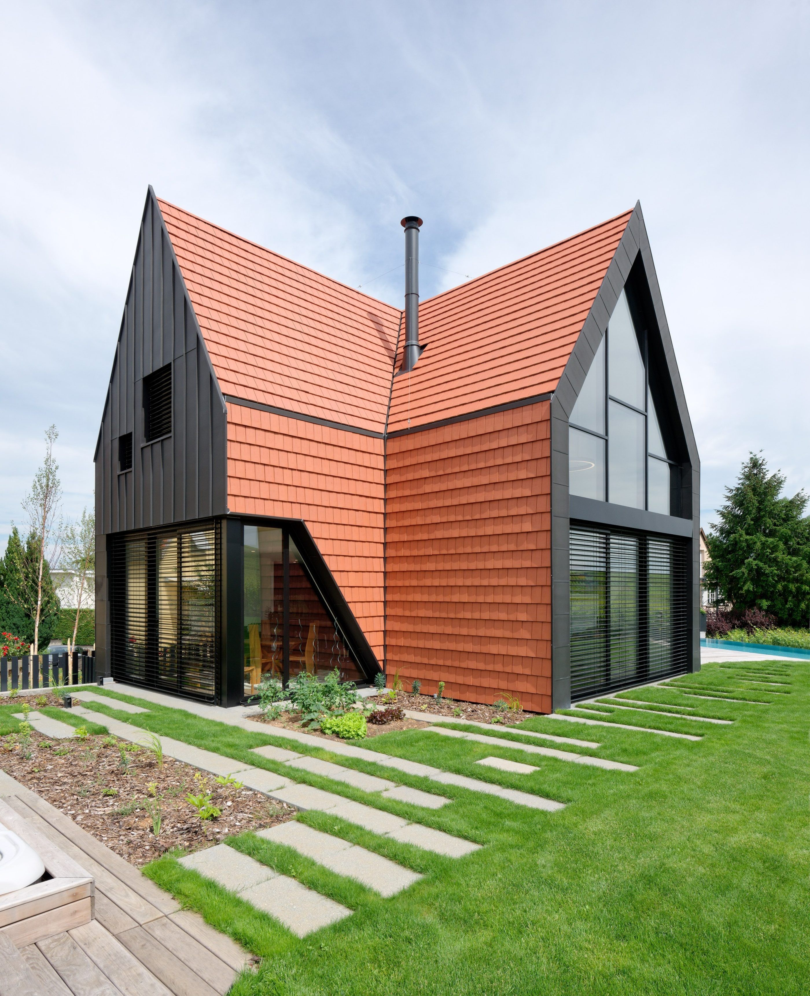 A Perfect Whole In 2020 Terracotta Roof House Red Roof House Roof Architecture