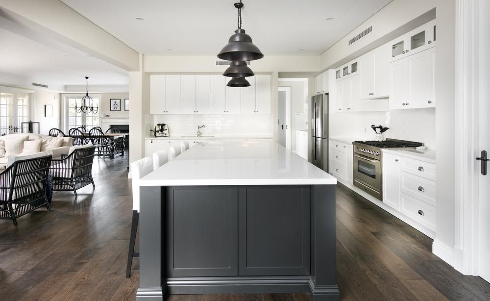 Hamptons style home good kitchen layout