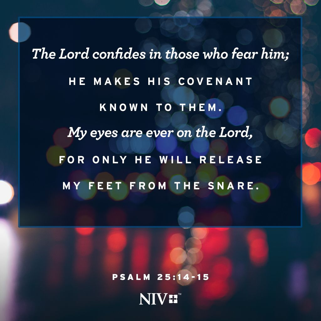Bible verse about fearing the Lord and keeping your eyes on him. #NIV