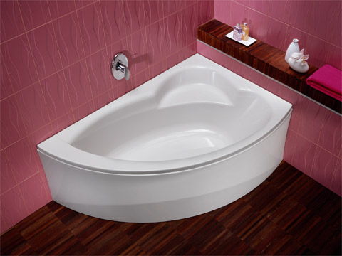 baignoire acrylique d 39 angle aveline 150x100 version gauche avec tablier blanc allia r f. Black Bedroom Furniture Sets. Home Design Ideas