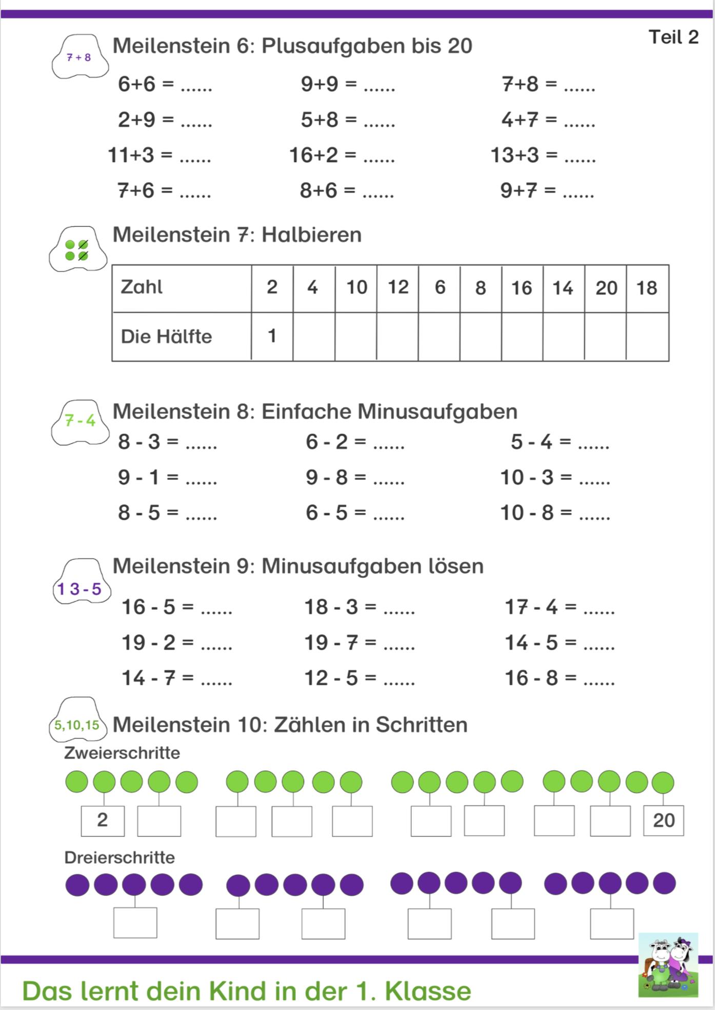 1 kostenlos mathe klasse Mathe 1.