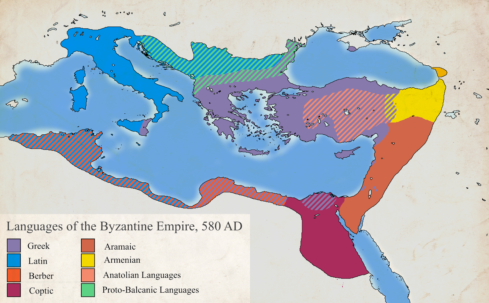 Languages Of The Byzantine Empire 580 Ad With Images