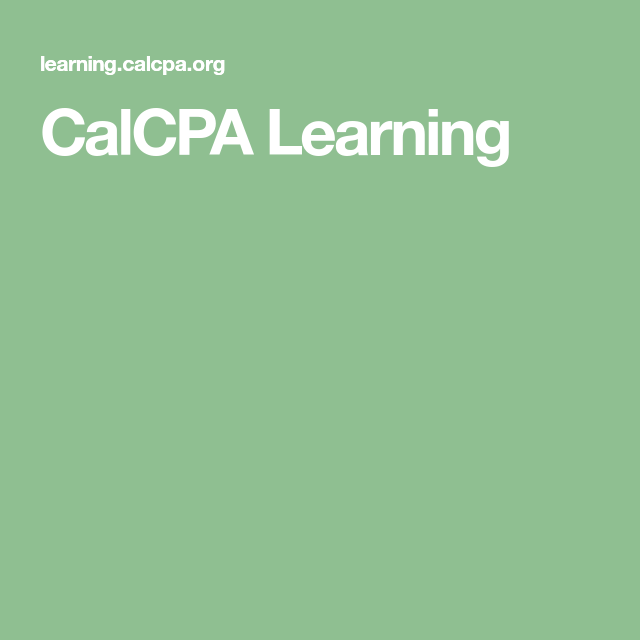 CalCPA Learning | Industry Research | Industry research