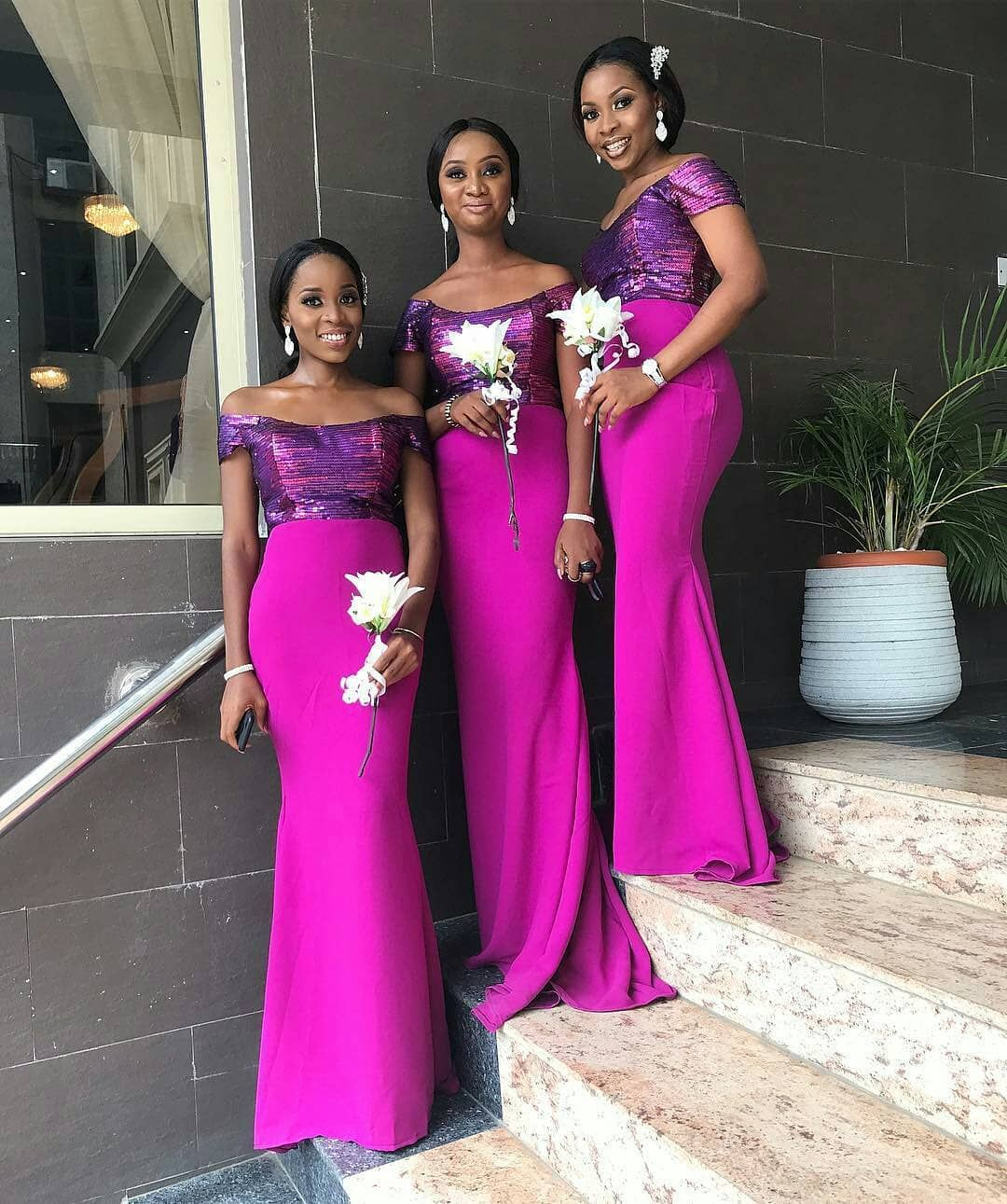 Brides Maids Fot Oba17 Photo Perkymakeovers Ebweddings African Bridesmaid Dresses Nigerian Bridesmaid Dresses Bridal Bridesmaid Dresses