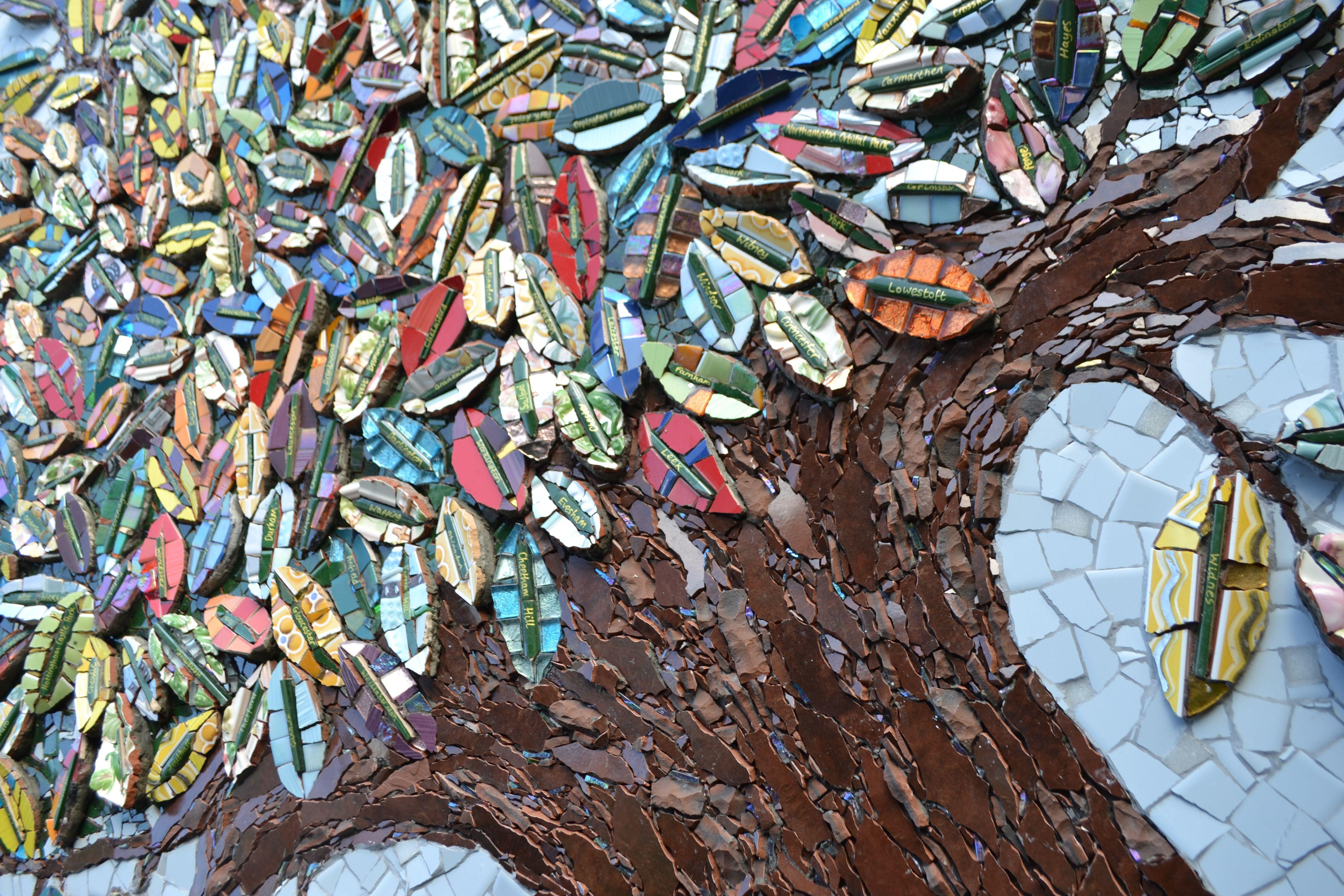 Glittering Shards The Wonderful Topps Tiles Mosaic Tree