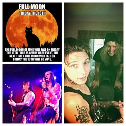 """ FULL MOON this Friday the 13th- I will be ""Featured"" tattoo Artist @ Mad Monster Convention in Phoenix AZ 13/14/15 June!!!! Come on out it's All Ages! 18. & over for tattoo work!! Lords of the Damned live- Mr. George & Andy B-tattoo madness— #lordsofthedamned #fullMoon #Friday13th #blackveilbrides #harlot #nickcave #nightmarebeforechristmas #halloweentattoos #shaunkama #poe #hplovecraft #robzombie #raanenbozzio #ronniesimmons #stevevigh #ruemorgmag #fangoria ..."