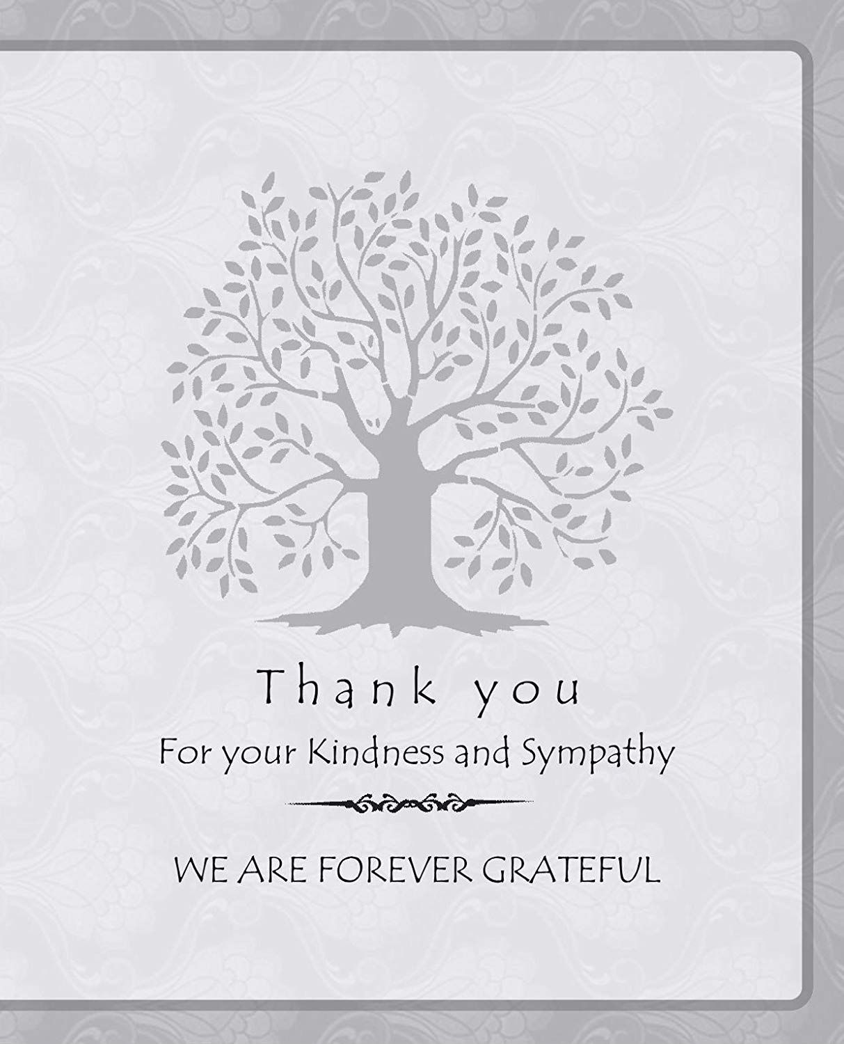 20 Celebration of Life Funeral Thank You Cards with