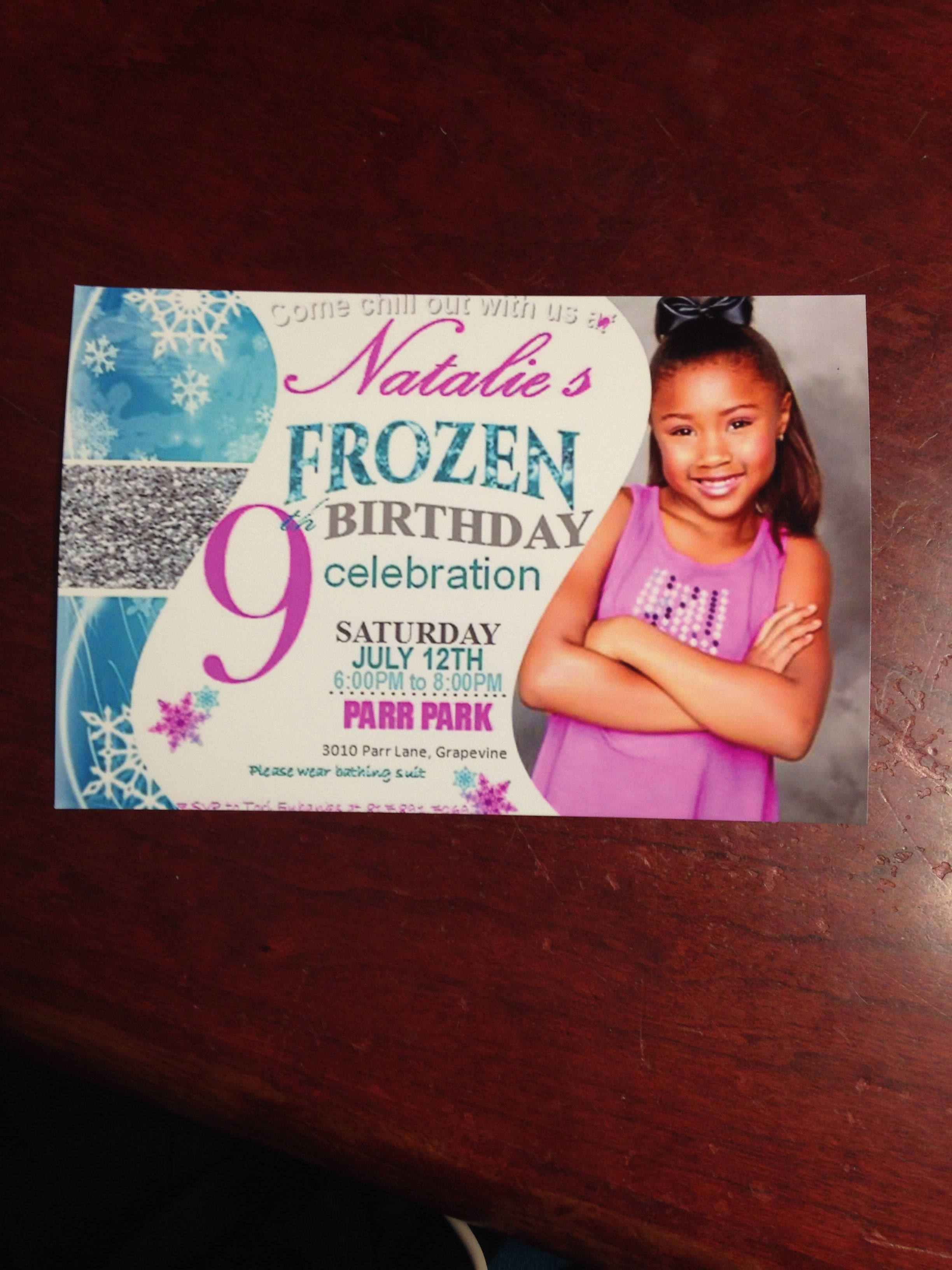 Nats Frozen Party Invitations Handmade In Microsoft Publisher Printed At Walgreens 75 For 10 Cant Beat That