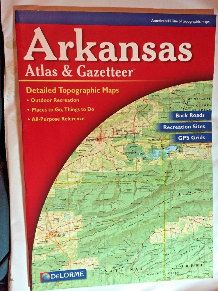 Details about Delorme Atlas & Gazetteer Arkansas Topographic Map ...