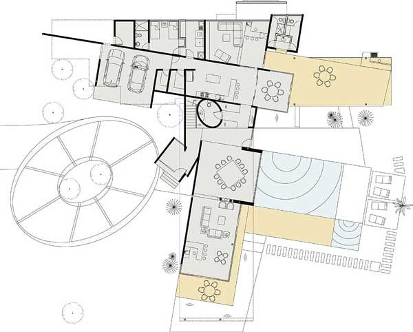 Architecture Architecture Home Interior Exterior Design Sketch Floor Plan Master Plan 1 Charming Slightly Shifted Floor Plan Overlooking